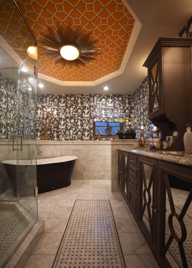Tile Bathroom Treatment by Gribble Interior Group
