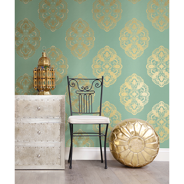 Medallion Wallpaper from Brewster Wall Covering
