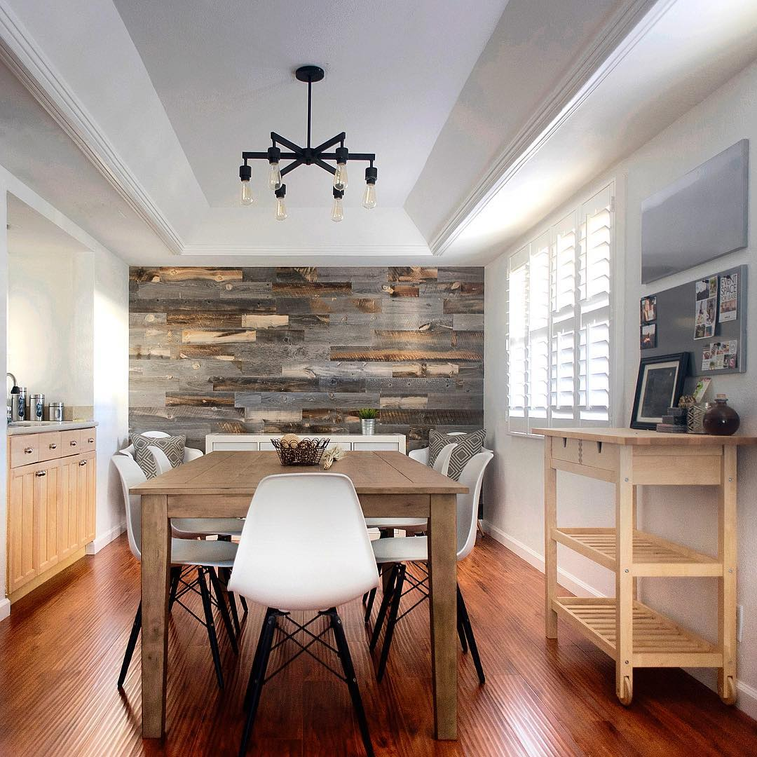 accent wall ideas for kitchen wood accent wall kitchen kitchen design ideas 22881
